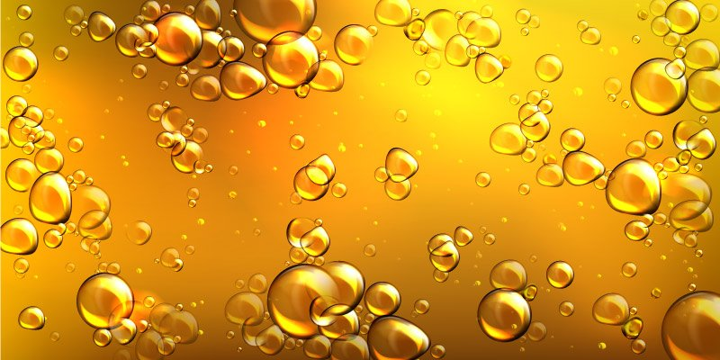 Close-up of Castor oil with bubbles